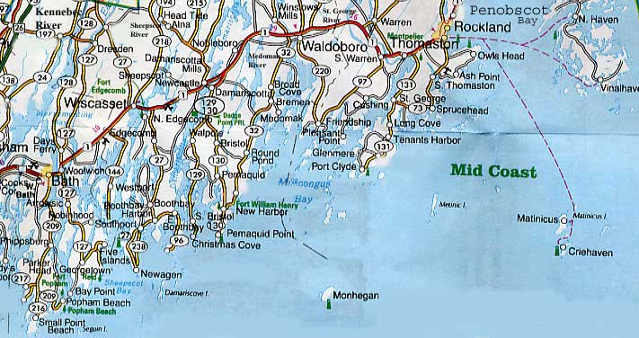 Map Of Maine Coast Map Of Maine Coast Map3 Fall Foliage